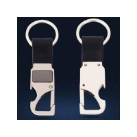 China Blank Car Leather Car Keychain Bottle Opener with Engrave Logo on sale