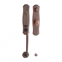 Entry Mortise Grip Handle Lock Set with Thumb Turn