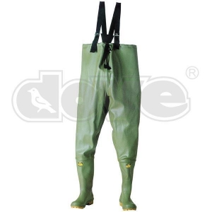 China 9271 Chest wader, rubber Chest length, Cotton lined, Natural rubber. Chest wader, rubber on sale
