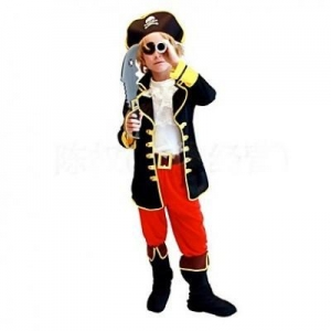 China Costumes One Eye Pirate Kids Halloween Costume on sale