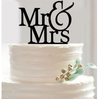 China Cake Topper Acrylic Mr & Mrs engagement wedding cake topper on sale