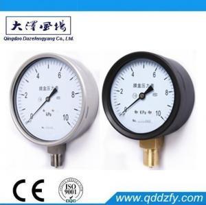 China Capsule Pressure Gauge 100mm Capsule Pressure Gauge With Lower Mount on sale