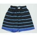 China Black & Blue Stripes Men's Swim Shorts on sale