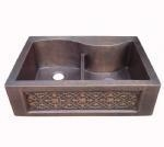 China Triple bowl copper apron sinks on sale
