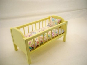 China Nice Looking Wooden Baby Doll Furniture Crib Wood Bed 18 Inch on sale