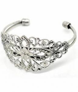 China Vintage Style Antique Silver Filigree Cuff Bracelet 637x on sale