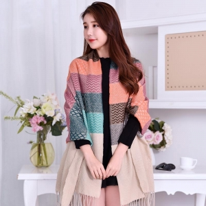 China 2017 Hot fashion think winter rainbow color long scarf shawl wrap acrylic infinity scarf for women on sale
