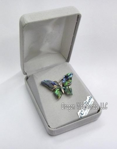 China Abalone Butterfly Pin on sale