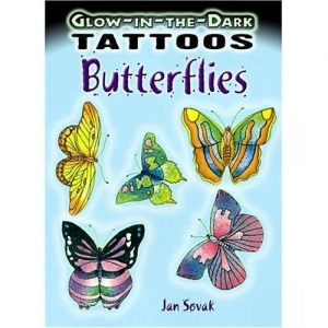 China Glow in the Dark Butterfly Tattoos (11) on sale