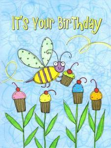 China Sugar Buzz Petite Bee Birthday Card on sale