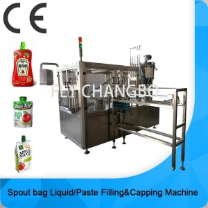 China factory doypack spouted packing machine spout pouch filling & capping machine on sale