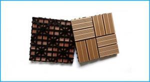 China WPC DIY Tiles Easy Installation WPC Composite DIY Decking Tile on sale