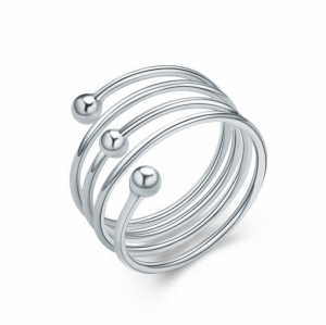 China Wholesale Silver Ring 925 Fashion jewelry Silver Ring Spring Design Simple Silver Ring for Ladies on sale
