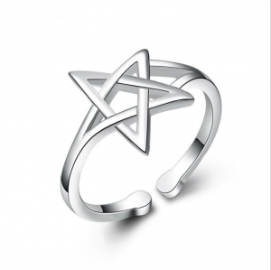 China Shiny Star 925 Silver Ring Charming Ring 2017 New Fashion Finger Ring on sale