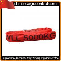 China Polyester Webbing Slings T Endless Crane Orange Polyester Round Sling on sale