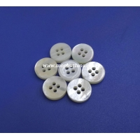 China 3mm Four Holes Bowl Shaped White Mother Of Pearl Natural Button on sale