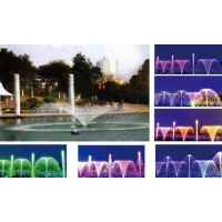 Music water fountain Ever-changing nozzle