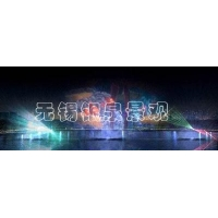 Music water fountain Laser water curtain