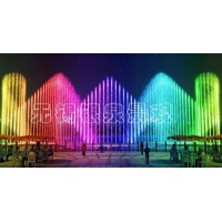 Music water fountain energizes