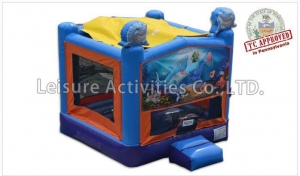 China Bouncers 13ft Shark Castle Bounce on sale