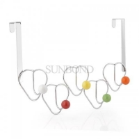 China heart shaped wire hanger hook with color beads on sale