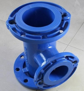 China Ductile Iron Loosing Flanged Tee DN 50-DN500 on sale