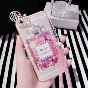 China Apple iPhone Cases Diamond perfume bottle liquid iphone 7 case on sale