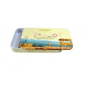 China China tin can factory Lip Gloss Packing Tin Can With A Sliding Lid on sale