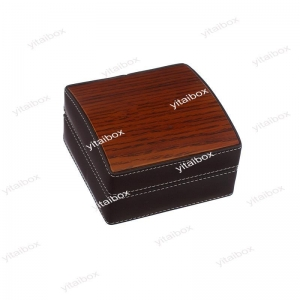 China wooden leather bangle box on sale