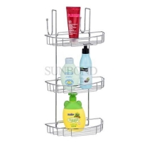 China Triple Tier Door Hanging Wire Iron Metal Shower Basket For shower on sale