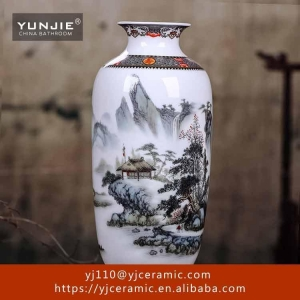 China wholesale decoration ceramic flower vas on sale