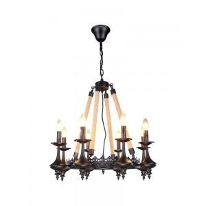 China European Vintage Iron Carven Crown style Chandelier on sale
