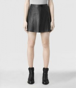 China Ladies High Waisted Leather Skirt on sale