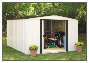 China Metal Garden Sheds with apex roof 10'X12' FT on sale