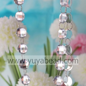China Winter 22mm Crystal Plastic Ring Bead Garland Stri--YZJ005-22MM on sale