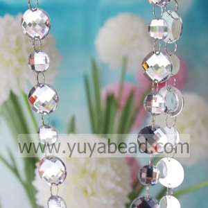 China Online 16mm&22mm Crystal Plastic Ring Bead Garland--YZJ019 on sale