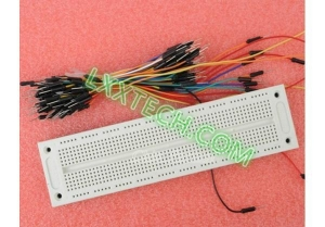 China SYB-120 700 Position Point Solderless PCB Breadboard + 65pcs Jump Wire Male to Male Jumper Wire FZ00 on sale