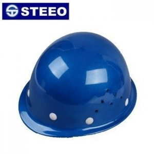 China Light weight factory price industrial ABS Work helmet blue color on sale