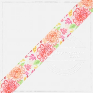 China Ribbon, Tape and Cords Grosgrain Ribbon 25 - Printed Grosgrain Ribbon (25mm) - Flower on sale