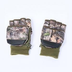 China Dual Purpose Fleece Mittens Short Finger Gloves on sale
