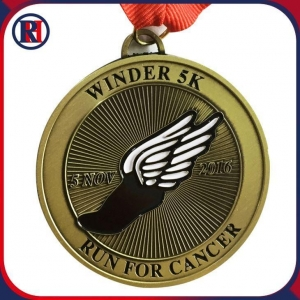 China Running USA Medal and Ribbon Trophies Online on sale