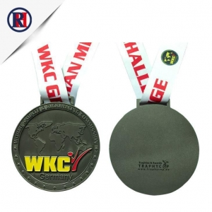 China Sport Event Medal with Antique silver Plating on sale