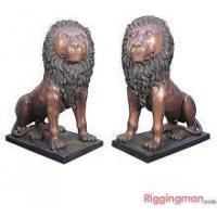 China Casting Iron Large animal Lion Statue on sale
