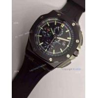 Replica Audemars Piguet Swiss Grade 3126 Black The carbon fiber Black Rubber Fashion Watch