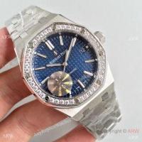 AAA Grade Fake Audemars Piguet Royal Oak 3120 Stainless Steel Blue Dial Diamond Bezel Fashion Watch