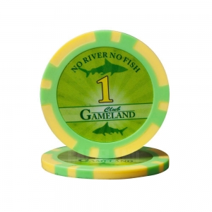 China 12g Two-Tone 43mm ABS Poker Chip With Sticker on sale