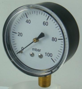China black steel case lower or back entry Capsule pressure gauge (manometer) on sale