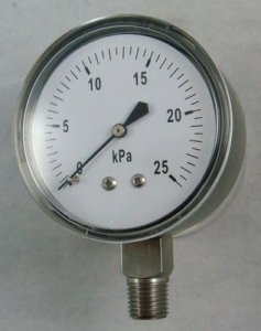 China lower or back entry Capsule pressure gauge (manometer) on sale