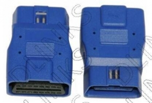 China OBD2 Female to OBD2 Male Adapter Item No.: AT001 on sale