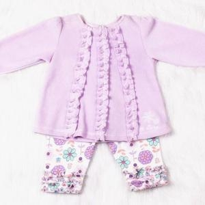 China Sets Baby Girl Casual Flower Spring and Autumn Cotton Clothing Set on sale